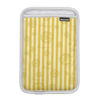 Vintage Yellow Stripes Gold Paris Damask Pattern Sleeve For iPad Mini