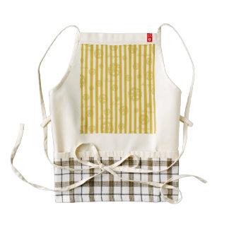 Vintage Yellow Stripes Gold Paris Damask Pattern Zazzle HEART Apron