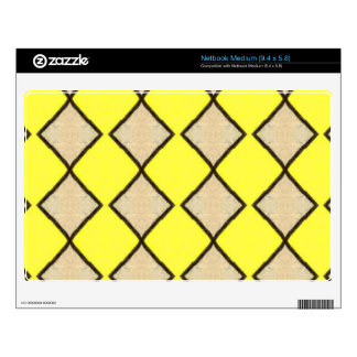 VINTAGE YELLOW TRIANGLES PATTERN DECALS FOR NETBOOKS