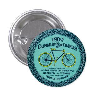 Vintage Yellow Turquoise Columbia Bicycle Ad Pin