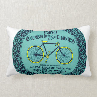 Vintage Yellow Turquoise Columbia Bicycle Pillow
