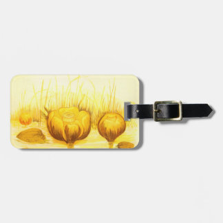 Vintage Yellow Water Lily Bag Tag