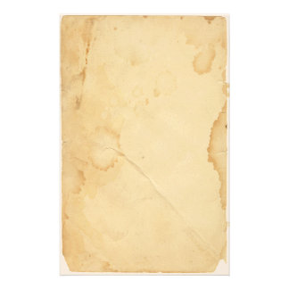 Vintage Yellowed and Stained  Stationery