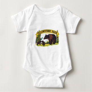 Vintage Yellowstone National Park with Brown Bears Tee Shirt