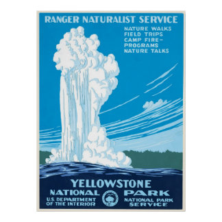 Vintage Yellowstone National Park WPA Poster