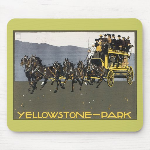 Vintage Yellowstone Park Mouse Pad