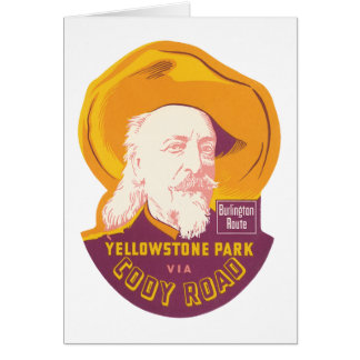 Vintage Yellowstone Park WY Cody Road Card