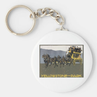 Vintage Yellowstone Park Wyoming Keychain