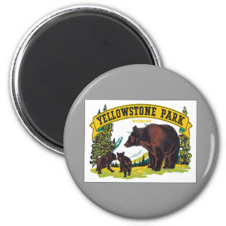 Vintage Yellowstone Park Wyoming USA 2 Inch Round Magnet