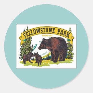 Vintage Yellowstone Park Wyoming USA Sticker