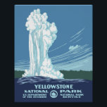 "Vintage Yellowstone WPA Travel Poster<br><div class=""desc"">A reproduction of the vintage WPA Poster resized to 16 x 20.</div>"