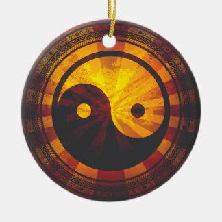 Vintage Yin Yang Ornamento Para Arbol De Navidad