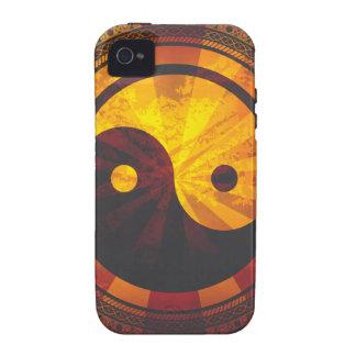 Vintage Yin Yang Symbol iPhone 4/4S Case
