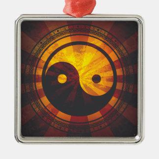 Vintage Yin Yang Symbol Ornament