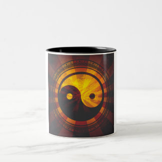 Vintage Yin Yang Symbol Print Coffee Mug
