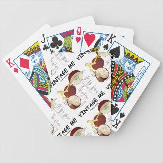 Vintage yo baya de la uva baraja de cartas