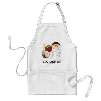 Vintage yo (baya de la uva) delantal