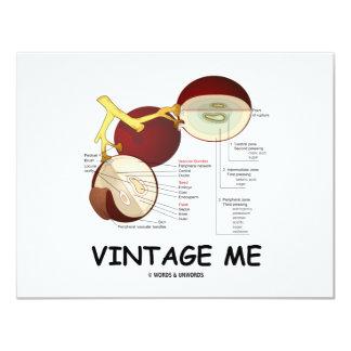 Vintage yo (baya de la uva) invitación 10,8 x 13,9 cm