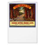 Vintage Yo-Semi-Te Orange Label Card