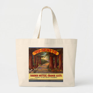 Vintage Yo-Semi-Te Orange Label Large Tote Bag