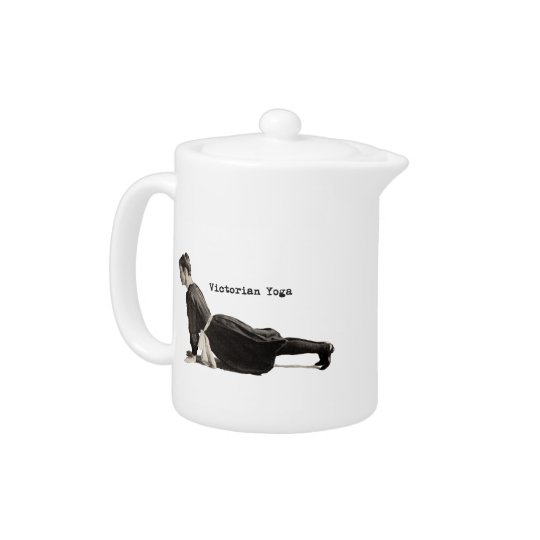 Vintage Yoga Woman Doing Upward Facing Dog Pose Teapot