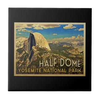 Vintage Yosemite Half Dome Ceramic Tile