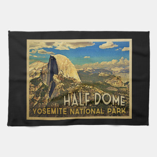 Vintage Yosemite Half Dome Hand Towels