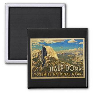 Vintage Yosemite Half Dome 2 Inch Square Magnet