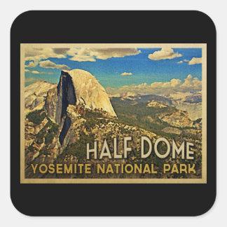 Vintage Yosemite Half Dome Square Stickers