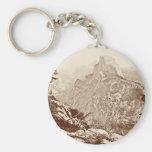Vintage Yosemite National Park Basic Round Button Keychain