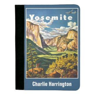 Vintage Yosemite USA custom name padfolio