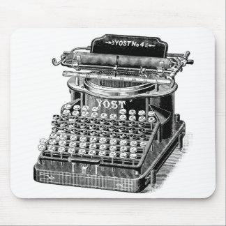 Vintage Yost No. 4 Typewriter, Mouse Pad