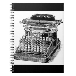 Vintage Yost No. 4 Typewriter Notebook
