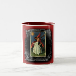 Vintage Young Halloween Witch Mug