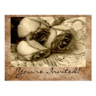 Vintage You're Invited! Invitation Postcards
