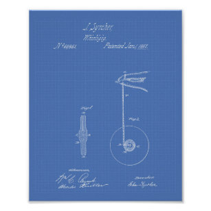 Yoyo gifts on zazzle vintage yoyo 1867 patent art blueprint poster malvernweather Image collections