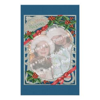 Vintage Yuletide alegre del navidad de la Papeleria De Diseño