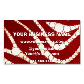 Vintage Zebra Abstract Business Card Magnet