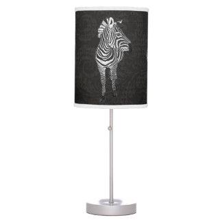 Vintage Zebra Black & White Lamp
