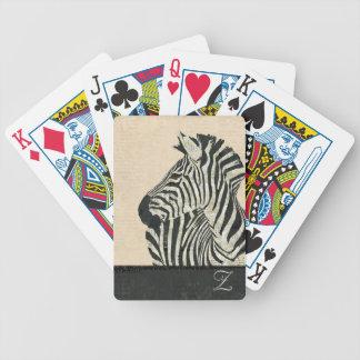 Vintage Zebra Monogram Card Deck