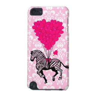 Vintage zebra & pink heart balloons iPod touch 5G case