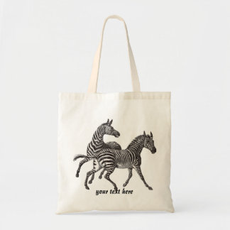 Vintage Zebra  Tote Bag
