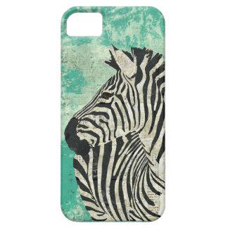 Vintage Zebra Turquoise  iPhone Case iPhone 5 Cover