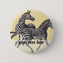 Vintage Zebras Button
