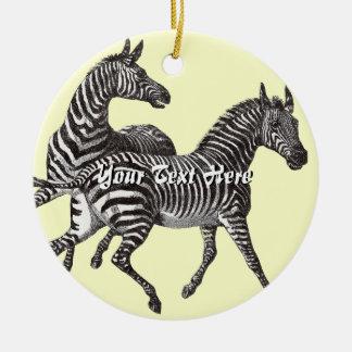 Vintage Zebras Ornament