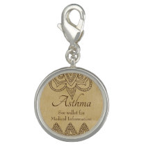 Vintage Zen Design Asthma Medical ID Charm