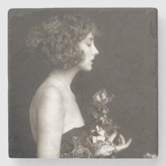 Vintage Ziegfeld Follies Girl Stone Coaster