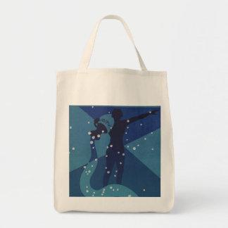 Vintage Zodiac, Astrology Aquarius Constellation Tote Bags