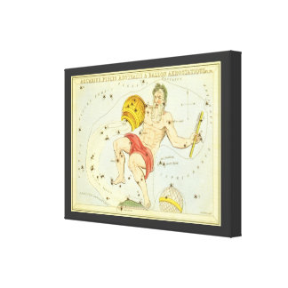 Vintage Zodiac, Astrology Aquarius Constellation Canvas Print