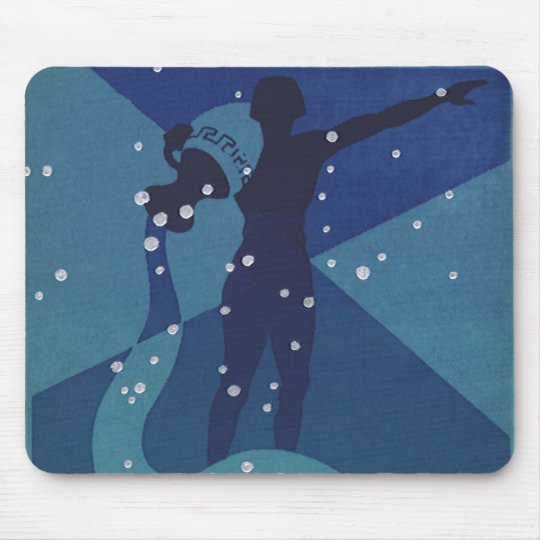 Vintage Zodiac Astrology, Aquarius Constellation Mouse Pad